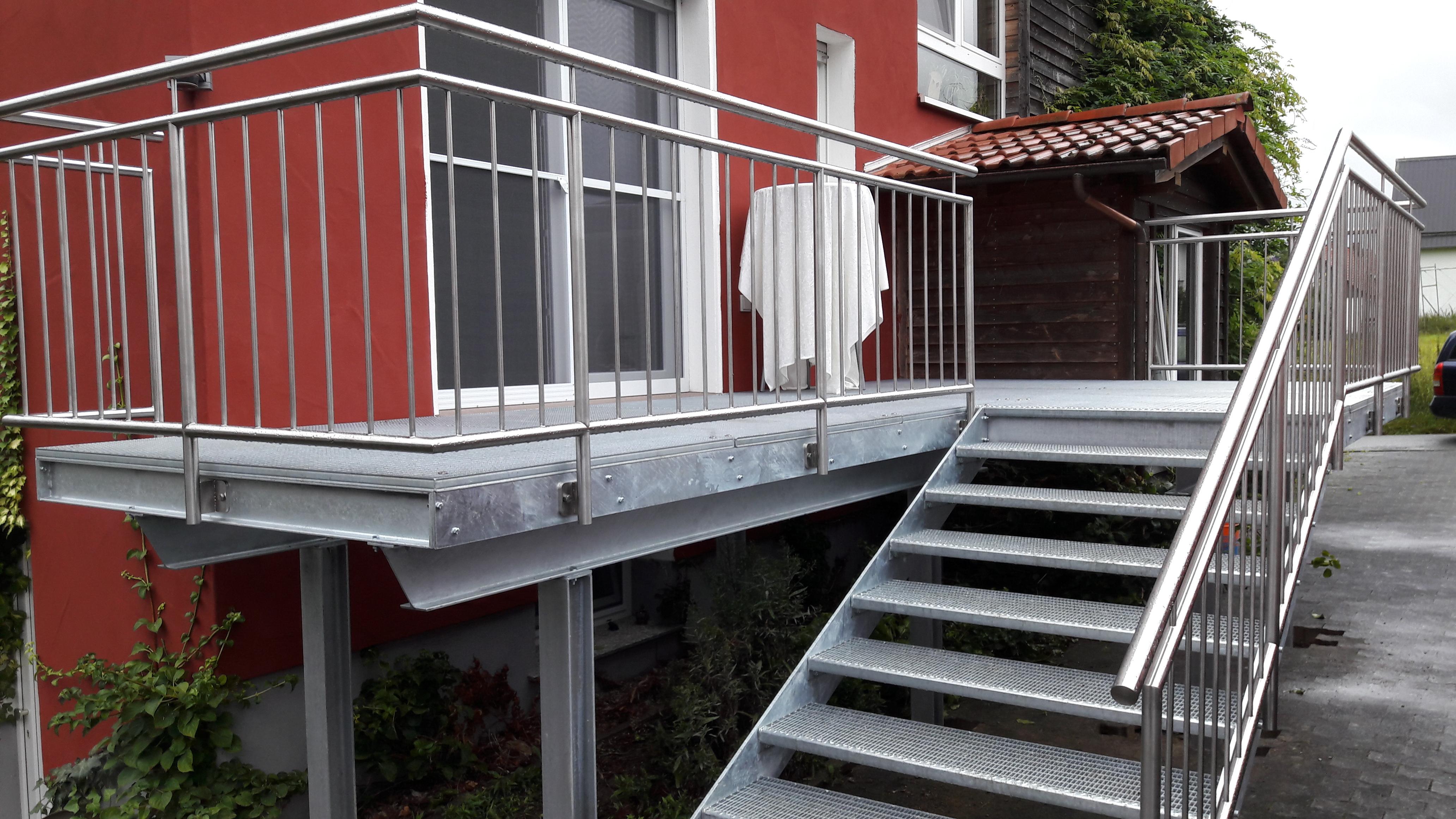 Balkonanlage »BA172550« von Metallbau Becker & Vogt
